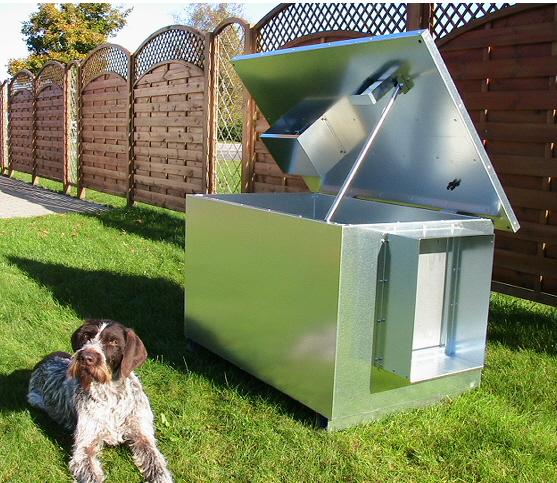 Bedste hundehus | opvarmet, isoleret og i galvaniseret stål
